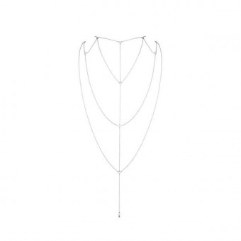 Цепочка для спины Bijoux Indiscrets Magnifique Back and Cleavage Chain - Silver, украшение для тела
