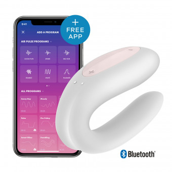 Вибратор для пар Satisfyer Double Joy White