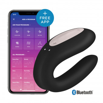 Вибратор для пар Satisfyer Double Joy Black