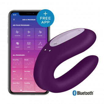 Вибратор для пар Satisfyer Double Joy Violet