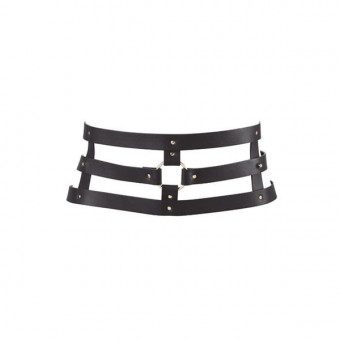 Портупея-пояс Bijoux Indiscrets MAZE - Wide Belt and Restraints Black, экокожа