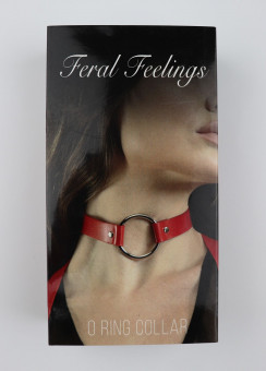 Чокер с кольцом Feral Fillings - O-Ring Collar красный