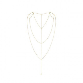 Цепочка для спины Bijoux Indiscrets Magnifique Back and Cleavage Chain - Gold, украшение для тела
