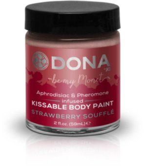 Краска для тела Dona Kissable Body Paint - STRAWBERRY SOUFFLE